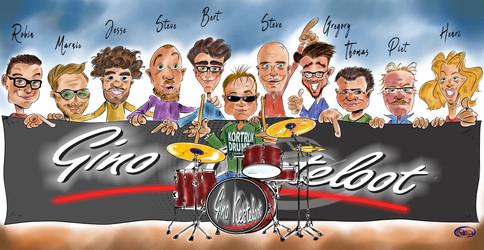 Karikatuur Van Gino En Zijn Team