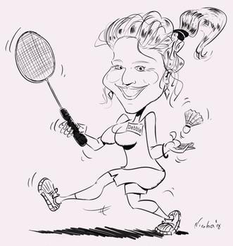 Karikatuur Debbie