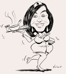 Karikatuur Isabelle