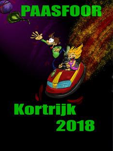 Tekening Affiche Paasfoor Kortijk 2018