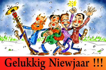 Karikatuur Trio Viern Winter