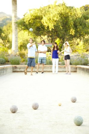 Dining Outside with Bocce Ball