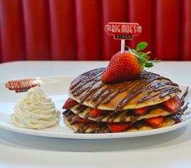 Strawberry & Nutella Pancakes