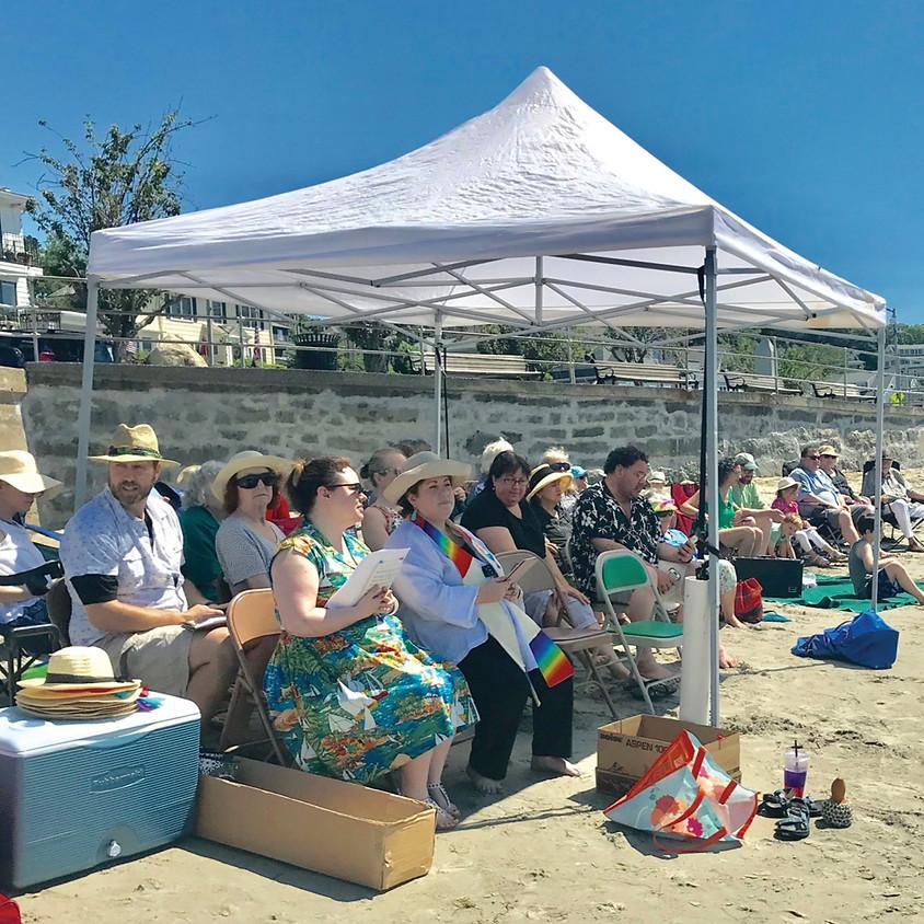 Sunday — Beach Service and Lemonade Fellowship