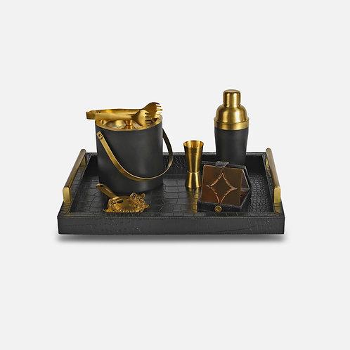 Cocktail set (Croco black & gold)