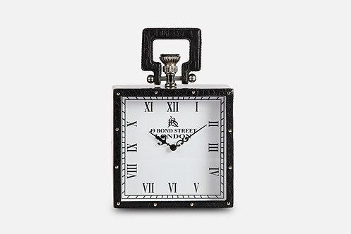 Black Table Clock by Three Sixty