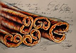 the smell of cinnamon/запах корицы