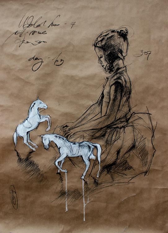 White horses/Белые лошадки