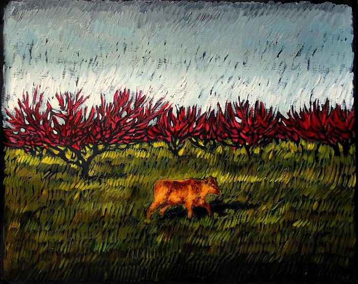 Peach orchard/Персиковый сад