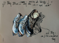 The secret life of shoes. Wintertime