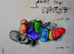 The secret life of shoes. Summertime