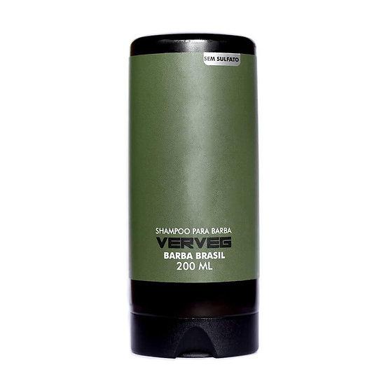 Shampoo para barba Barba Brasil - Sem Sulfato - VERVEG  - 200ML