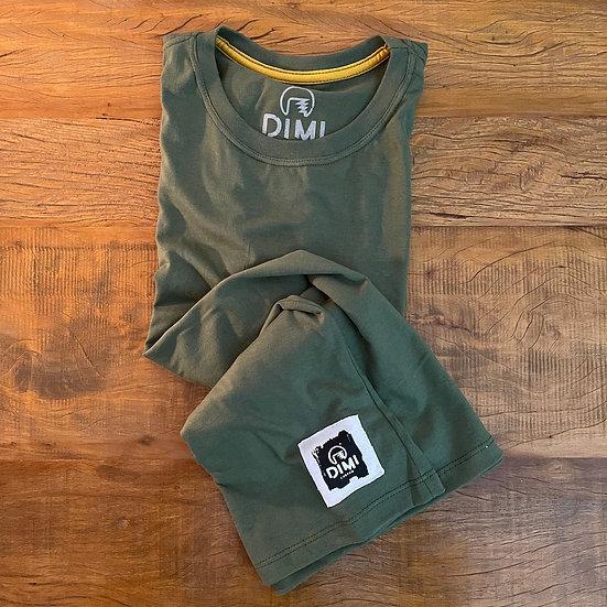 T-Shirt Dimi Custom® SkullRider - Verde Militar