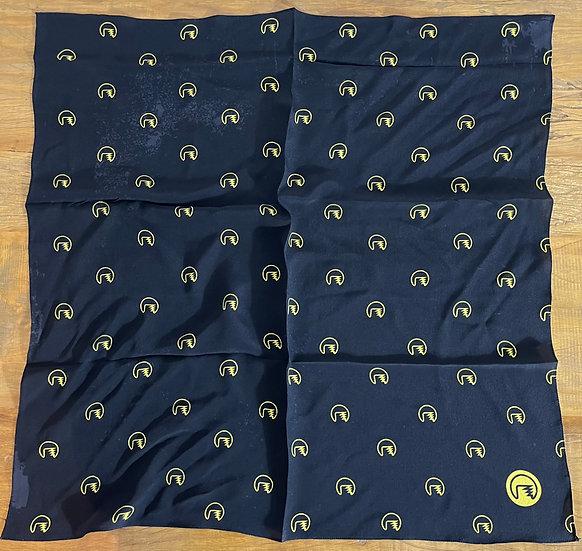 Lenço de seda Dimi Custom® Dimi Pattern Amarelo e Preto