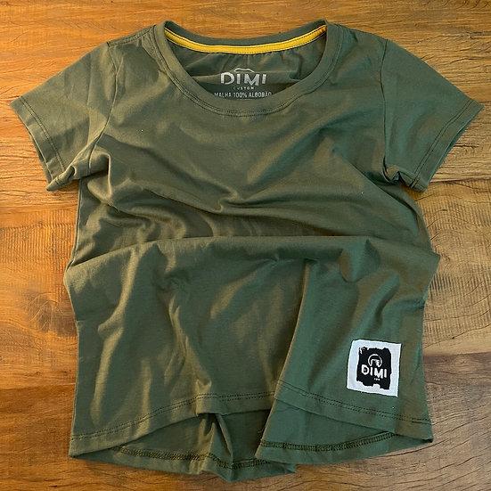 T-Shirt Dimi Custom® Dimi Couple Feminina - Verde Militar