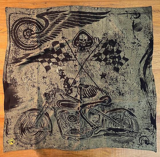 Lenço de seda Dimi Custom® Skull Rider