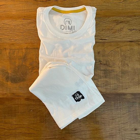 T-Shirt Dimi Custom® DimiCouple - Marfim e Preta