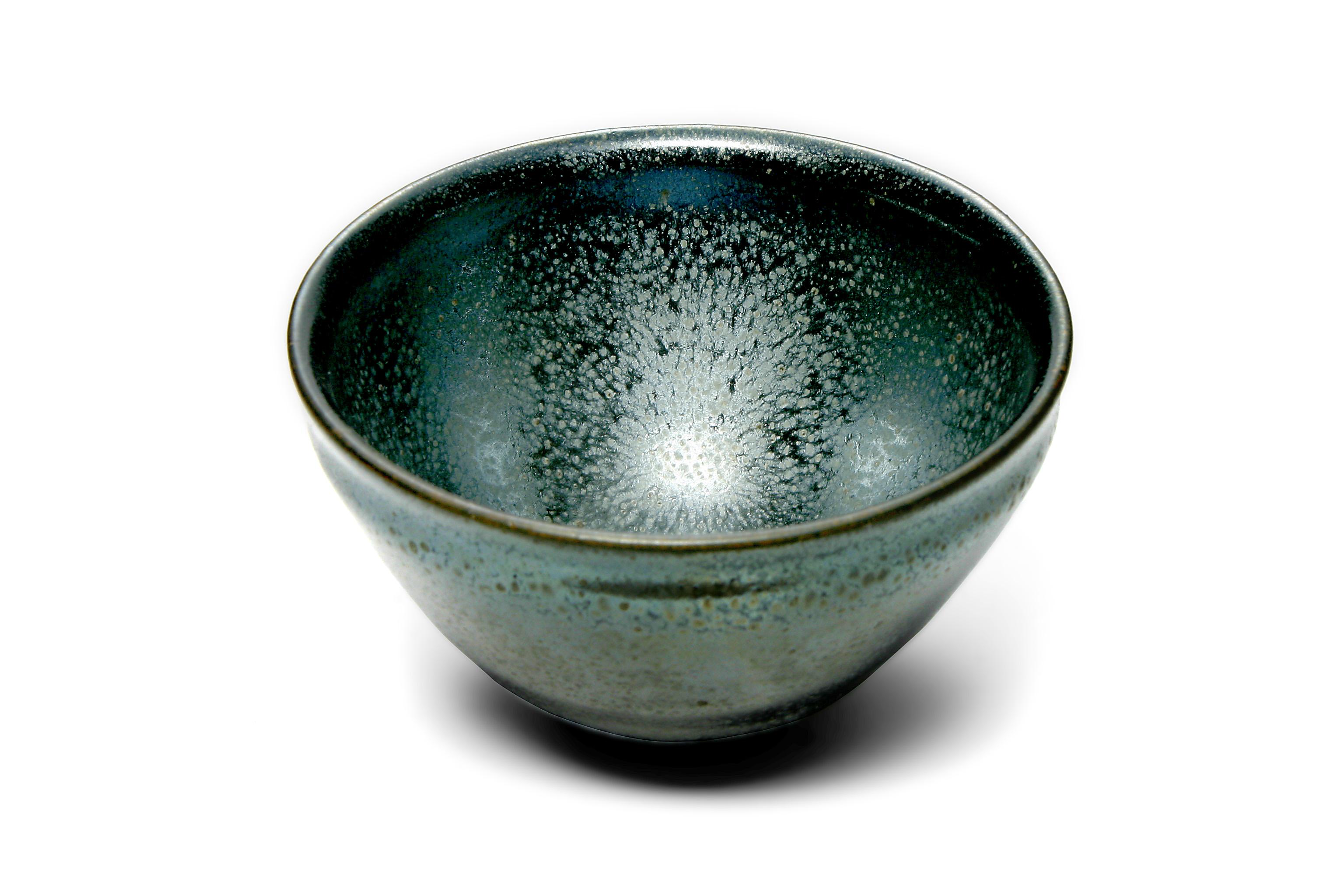 銀油滴天目茶碗