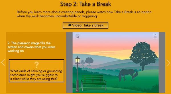 Screenshot of the updated Warrior Stories training program