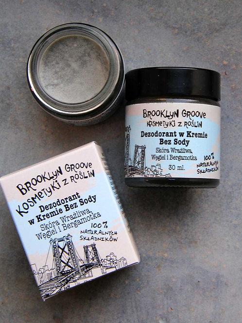 Dezodorant w Kremie Bez Sody - Węgiel i Bergamotka