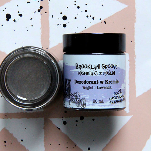 Charcoal Deodorant Cream - Lavender and Lemon Grass