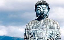 Statue de pierre représentant Boudha - Shanti Massage