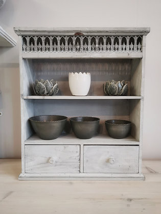 Wooden Wall Rack Grey Wash