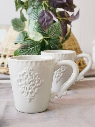 Grey Monogram Mug