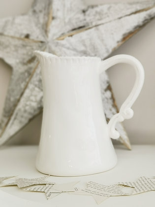Annmarie Water Jug White