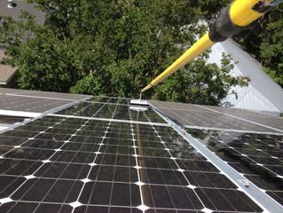 Solar panel cleaning  Austin Texas.
