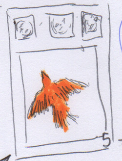 O pássaro no parque