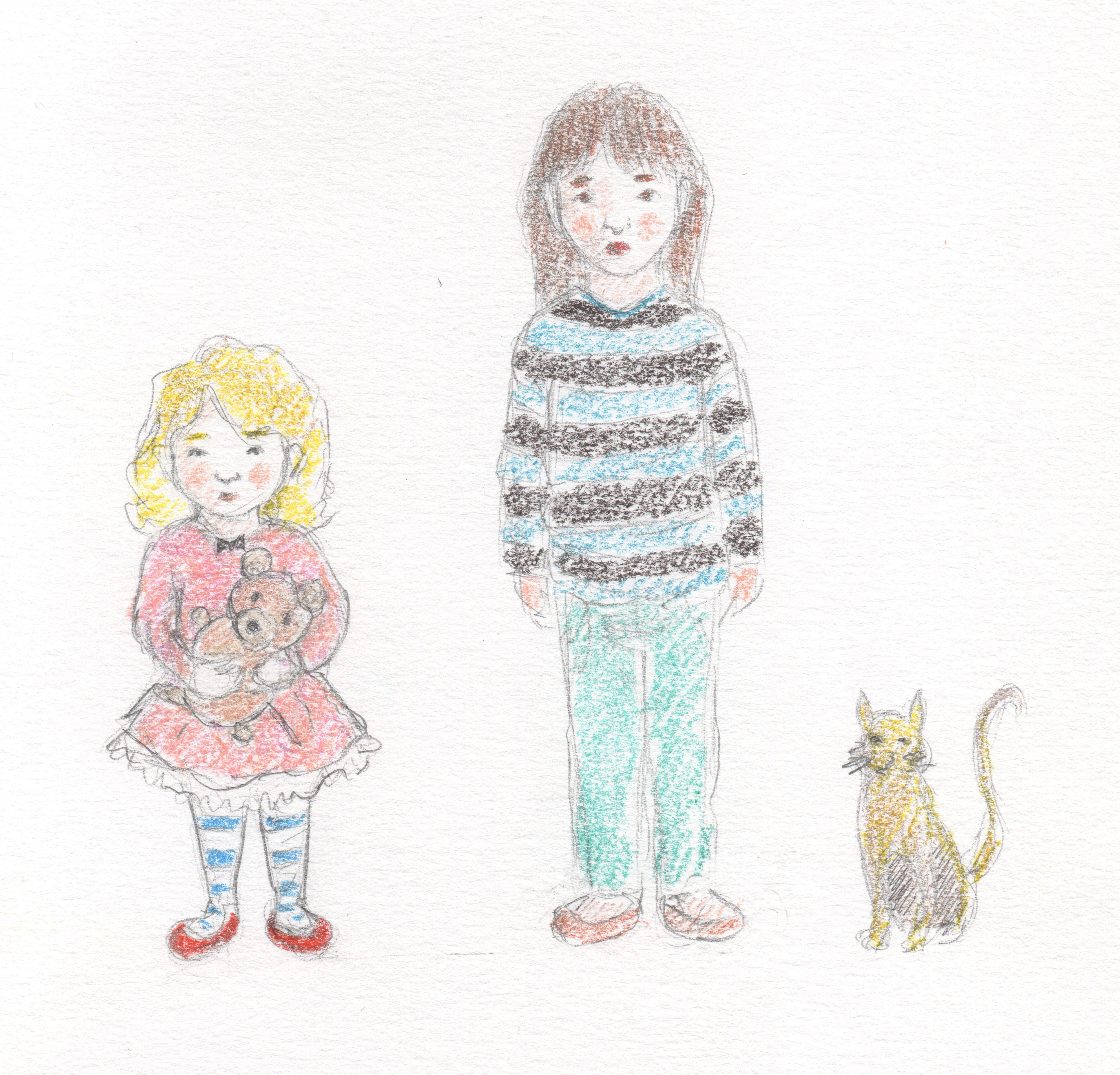 Irmãs e o gato