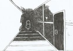 Laura no corredor