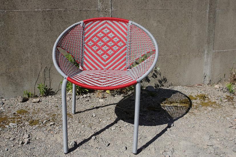 Chaise D66 Gris / Rouge