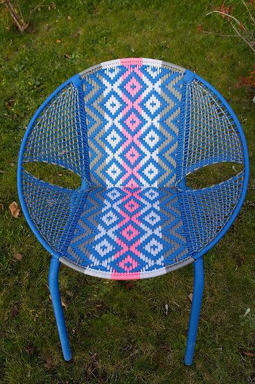 Chaise D66 Bleue /Muliticolor
