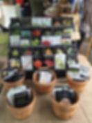 baker creek heirloom seed packet display