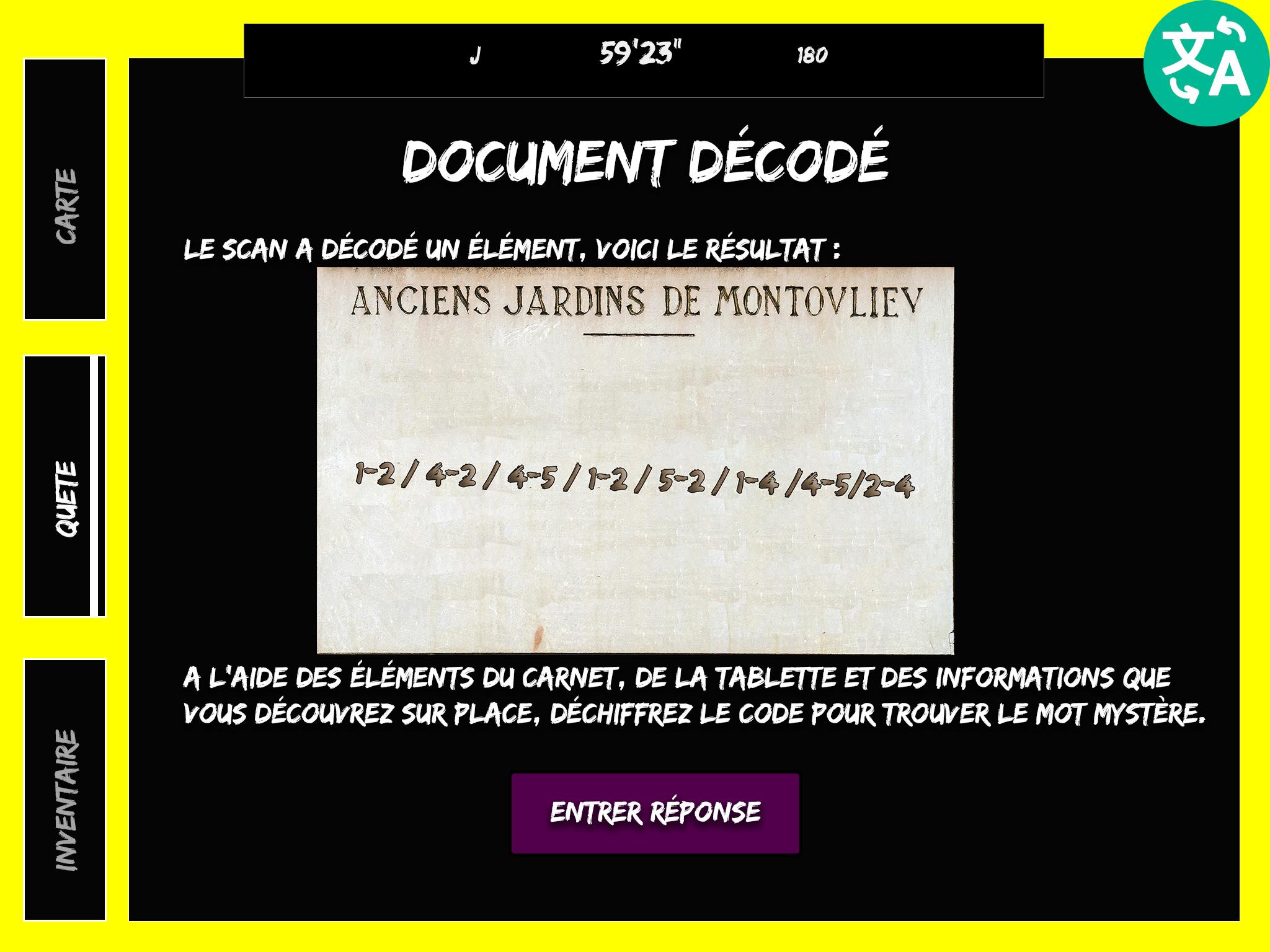 Code à déchiffrer