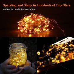 LED Solar Copper String Light