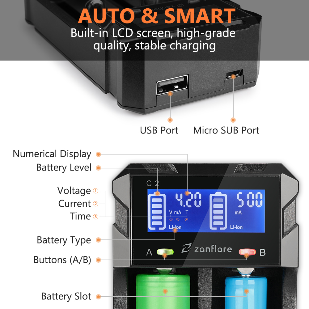 Battery Charger LCD Screen