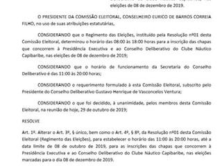Comissão Eleitoral - Resolução 02/2019