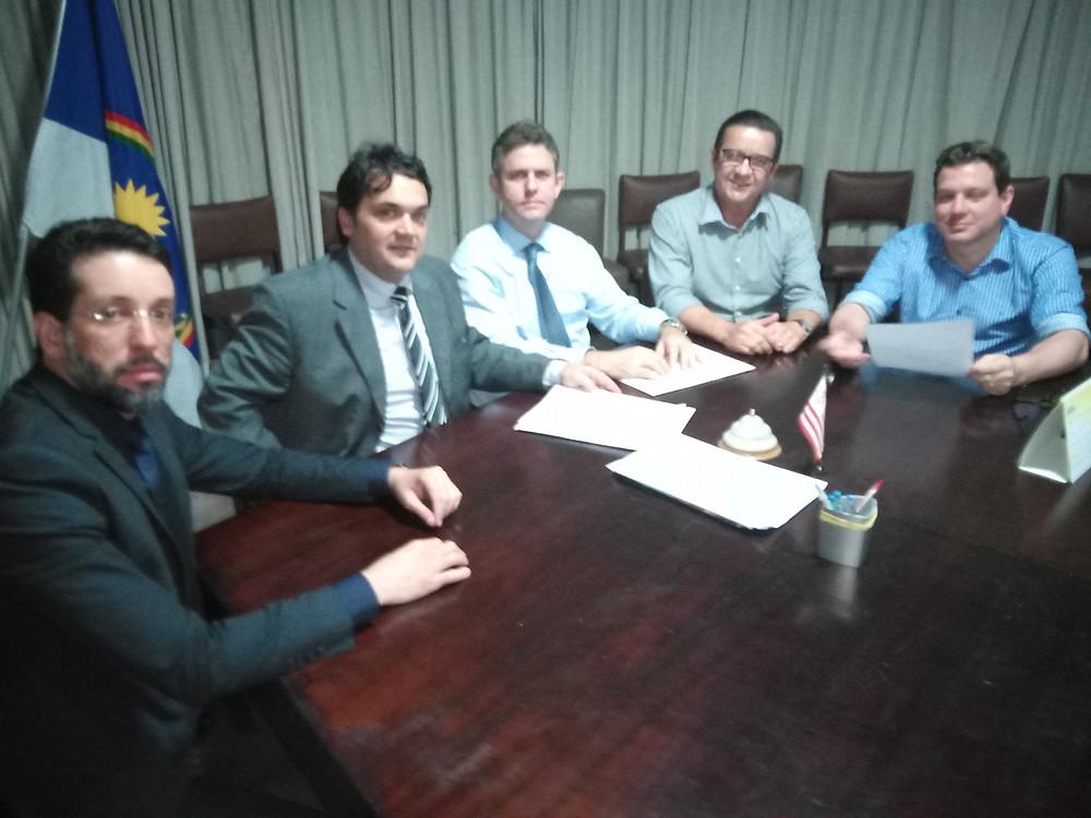 Comissão Eleitoral: Carlos Becker, Ivan Rocha, Alexandre Carneiro, Roberto Andrade e Carlos Roma Júnior