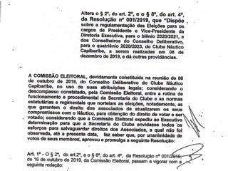 Comissão Eleitoral - Resolução 003/2019