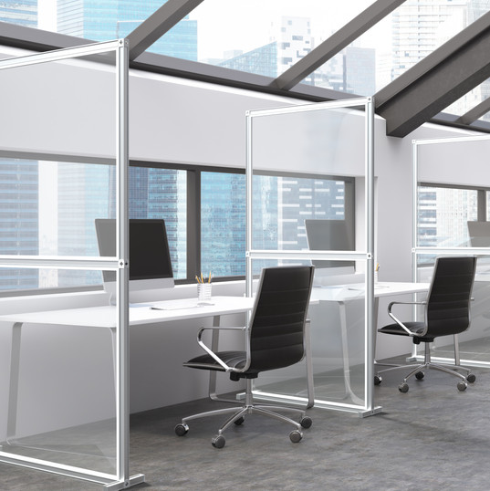 Desk Partition: Clear Acylic