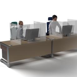 Desk Divider: Clear Acrylic