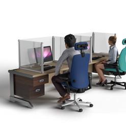Desk Divider: 3 Sideded Installed