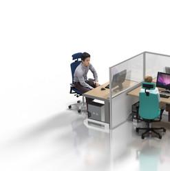 """Desk Partition: 1.5m """"L-shape"""""""