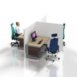 Desk Partition: T-Shaped
