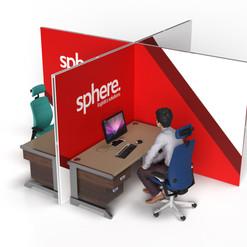 Desk Partition: Branded