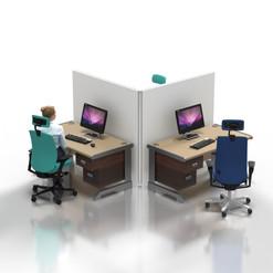 """Desk Partition: """"L-shaped"""""""
