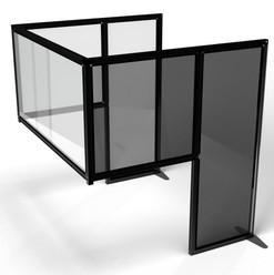 Desk Divider: Customised Black